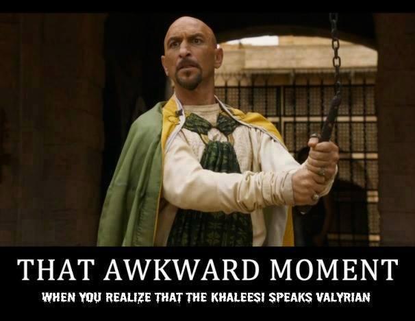 Momento incómodo cuando descubres que Daenerys habla Valyrio