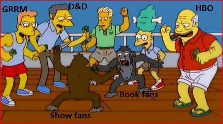 Fans de la serie vs. Fans de los libros