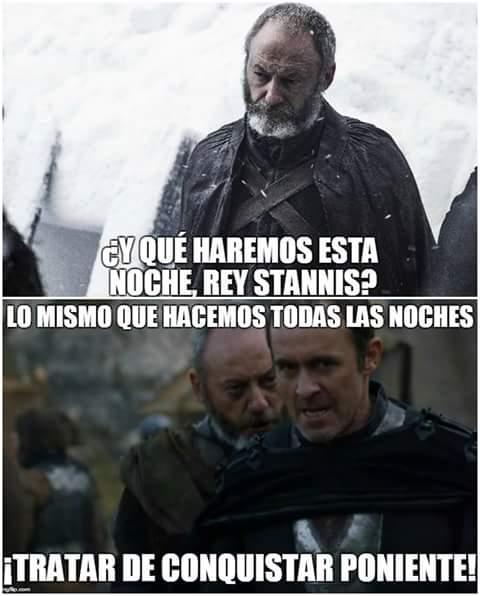 Pinky Davos y Stannis Cerebro haciendo planes