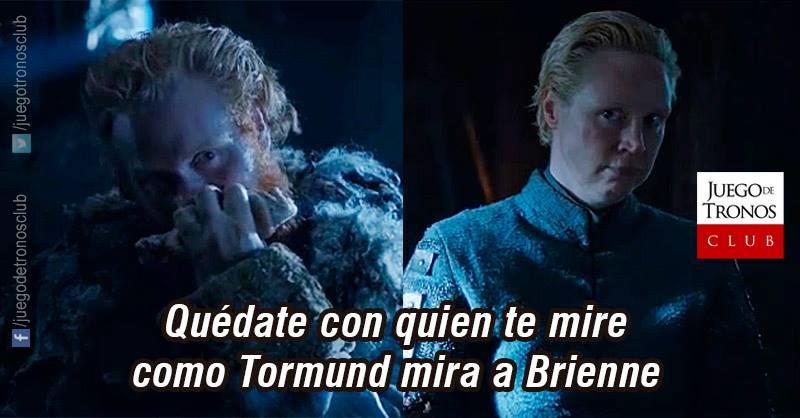 Brienne y Tormund – El amor esta en el Muro