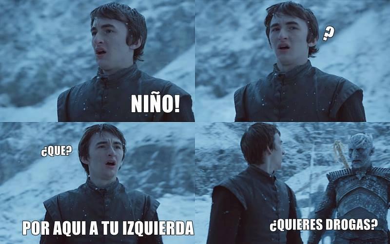El Rey de la Noche tentando al pobre Bran