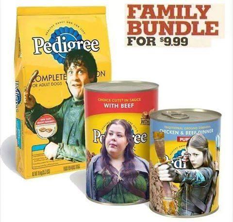 Pack completo para alimentar mascotas en Winterfell