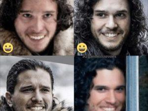Si Jon Snow sonriera un poco mas