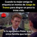 Te lo agradezco, Peter