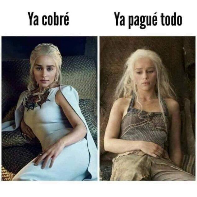 Daenerys sin dinero