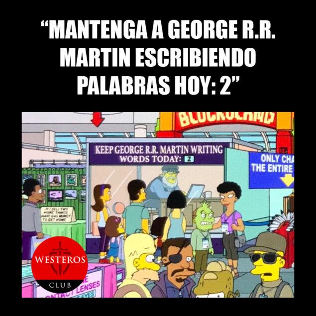 George RR Martin en Los Simpson