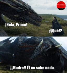 Drogon conoce a su primo