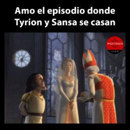 Tyrion y Sansa en Shrek