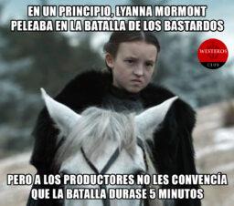 Lady Mormont gana sola la Batalla de Bastardos